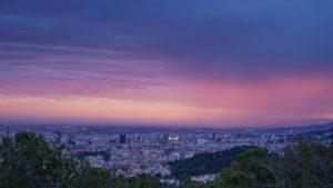 Barcelona panorama at night