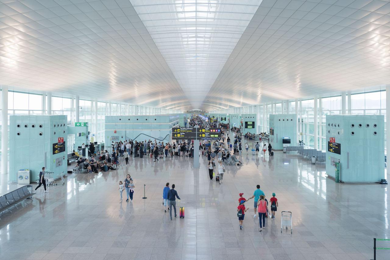 Interior of Josep Tarradellas Barcelona-El Prat Airport