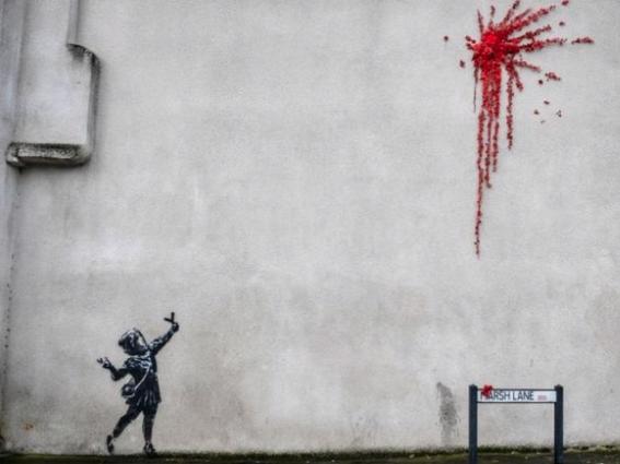 """""""Valentine's Banksy"""" in Bristol"""