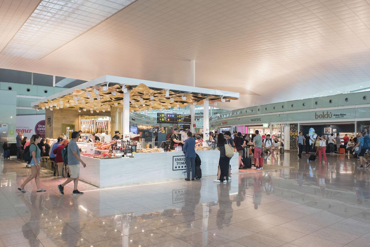 Terminal at Josep Tarradellas Barcelona-El Prat Airport